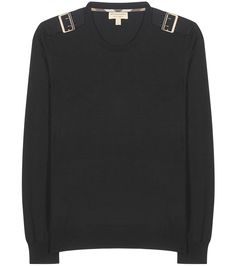 Burberry - Knitted wool sweater - Knitted from a soft merino wool, Burberry's black sweater features buckled shoulders for a utilitarian finish. Layer yours over a turtleneck for added colour and throw on your favourite jeans for an instantly polished look for a weekend outing. seen @ www.mytheresa.com