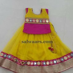 Large Glass Work Lehenga - Indian Dresses