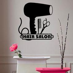 Wall Decals Vinyl Decal Hairdressing Salon by DecalMyHappyShop, $14.99