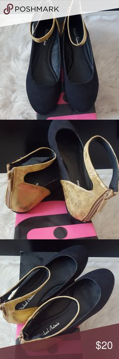 Brand new black flats with gold strip Brand new black flats with gold strip Michael Antonio Shoes Flats & Loafers