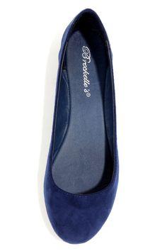 Cherry 11 Navy Blue Ballet Flats at LuLus.com! Navy Blue Wedding Shoes 19f70fd5b107