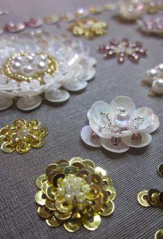 Broderie perles et paillettes