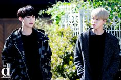 Suga and Jimin ❤ BTS HD photo shoot outside Big Hit Entertainment (dispatch) #BTS #방탄소년단