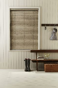 The speckled finish of our Country Chic Clay Wooden blind adds interest and makes it perfect as the finishing touch on a rustic scheme. Use Wooden blinds to add warmth to your home, as well as to control light and privacy easily.