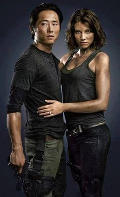Glenn & Maggie The Walking Dead. yes, i have a crush on both of them