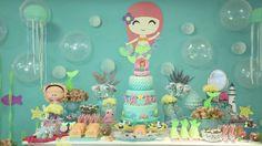 THE LITTLE MERMAID BIRTHDAY PARTY DECORATIONS - A PEQUENA SEREIA ARIEL FESTA INFANTIL