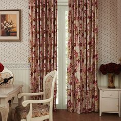 Luxuriant Bloom Country Floral Energy Saving Curtain  #floral #curtains #homedecor #interiordesign Floral Curtains, Save Energy, Bloom, Interior Design, Prints, Country, Home Decor, Nest Design, Decoration Home