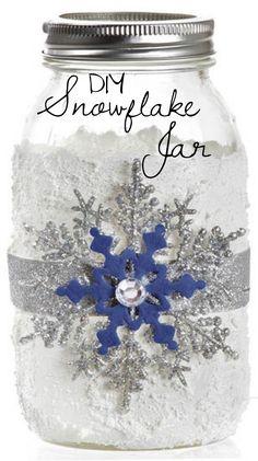 Snowflake Mason Jar   DIY Jar Gift Ideas from @joannstores