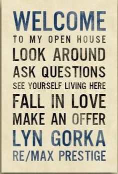 A realtor welcome canvas to have at every open house!!  Make your own!  www.pinkheidi.jewelkade.com #realestatepostcards