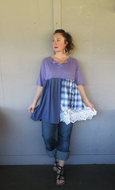 Large X Large 1 X upcycled tunic dress / by lillienoradrygoods