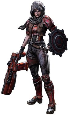 I know the game and the character, who is Athena the Gladiator and also an assassin. She could be useful for ideas on weapons.