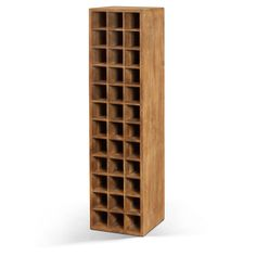 Wine Rack Furniture Lifestyle Natural Teak Tall Shelf