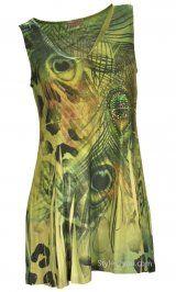 Reina Pretty Woman Fashion Mika Blouse With Rhinestones In Green