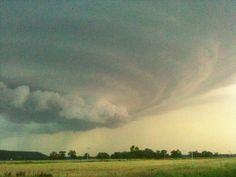 Amazing storm blowing into dewey, ok
