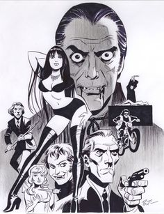 Hammer Horror, by Bruce Timm