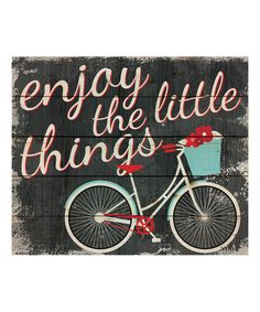 Look at this 'Enjoy the Little Things' Pallet Wall Art on #zulily today!