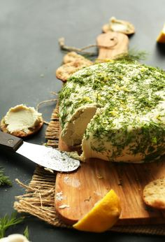 Easy Garlic & Herb Vegan Cheese - Minimalist Baker