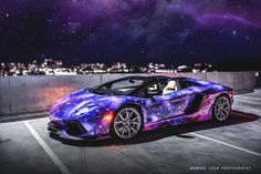 Space-themed custom Lamborghini Aventador.