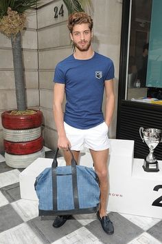 Hair + beard + short shorts