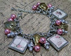Victorian Romantic, and Shabby Chic Charm Bracelet... by 1989michelle, $30.00