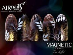 Photo Love Nails, Fun Nails, Coffin Nails, Acrylic Nails, Airbrush Nails, Airbrush Designs, Nail Designs, Nail Art, Step By Step Drawing