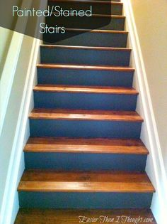 Painted/Stained Stairs Idea For Basement Stairs