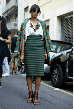 Stella Jean l Milan fashion week l Milan l Italian fashion l business casual l business style l street wear l business attire Look Fashion, Skirt Fashion, Fashion Outfits, Womens Fashion, Fashion Trends, Trendy Fashion, Fashion News, Classy Fashion, Cheap Fashion