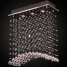 Cristal montagem embutida, 3 Luz, Arc moderna Galvanoplastia Aço Inoxidável – BRL R$ 308,82