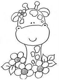 Flowery giraffe