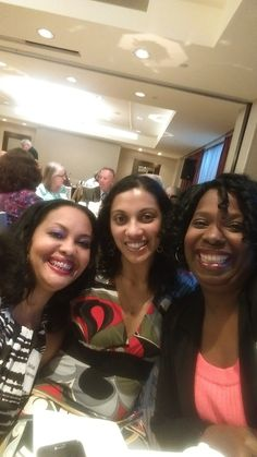 Dee Lawerence, Puja Guha and B Swangin at the Mystery Writers Dinner