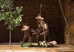 David Threlfall as Don Quixote in Don Quixote. Photo by Helen Maybanks.