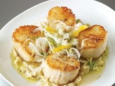 Seared Scallops with Fennel Cream    Impress your sweetheart with a dish from Top Chef that's surprisingly easy to make
