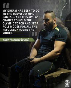 Amir AL-AWAD Quote. My dream has been to go to the Tokyo Olympic Games... And it is my last chance to hold the Olympic torch and set a role model for all the refugees around the world. Olympic Wrestling, Olympic Games, Wrestling Quotes, Tokyo Olympics, Golf Quotes, Golf Humor, European Football, Disc Golf, Golf Fashion