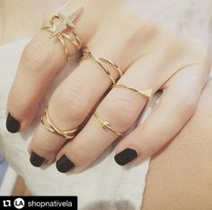 New arrivals from Native LA now in store! #milk #milkboutique #newarrivals #jewelry #midirings #repost @shopnativela with @repostapp. ・・・ Are you this stacked? shop our new Birdy Rings over @milkboutique #nativela #cool #ootd