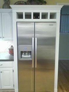 Open Shelving Above Refrigerator Surround Kitchen Cabinets