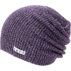 Grab a new Neff Girls Daily Sparkle purple beanie for a look that works with any outfit. Instantly warm your head in soft comfort thanks to the ribbed knit construction in the purple colorway, slouchy fit, and a Neff logo tag embroidered near the hem for added style.