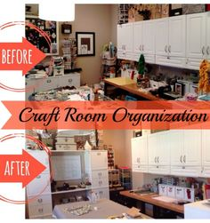 Love this organizational makeover of her craft room!