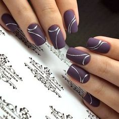 Nail art Christmas - the festive spirit on the nails. Over 70 creative ideas and tutorials - My Nails Classy Nails, Stylish Nails, Cute Nails, Pretty Nails, My Nails, Fingernail Designs, Gel Nail Designs, Cute Nail Designs, Nails Design