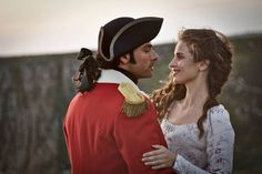 Ross Poldark (Aiden Turner) and Elizabeth (Heida Reed)