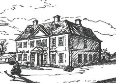 """Maggie Arnold contributed this lovely illustration of a country house to """"An Invitation to Mansfield Park."""" Celebrating 200 years of Jane Austen's Mansfield Park with guest posts every Friday from May to December at www.sarahemsley.com"""