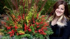 How to Make a Pretty Winter Container - YouTube