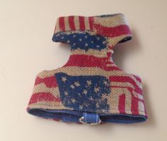 Small Rustic Flags Dog Harness Pet Clothes by RocknHotdog on Etsy, $16.00