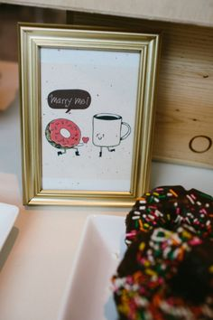 """Marry me"" - Donut and coffee bar dessert table // photos by www.hannaharista.com"