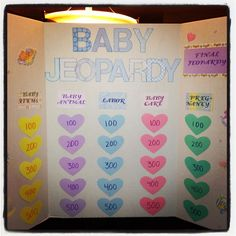 Baby jeopardy for baby shower games!