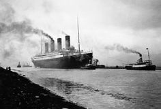 Titanic: As high as an eleven story building and nearly four city blocks long, the Titanic was one of the largest and most magnificent ships in the world (photographed in 1912). (Photo Credit: Hulton-Deutsch Collection/CORBIS)