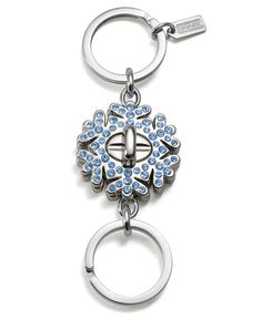 COACH PAVE SNOW FLAKE VALET KEY RING - COACH -