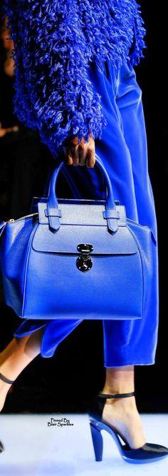 Giorgio Armani Fall 2015 Ready-to-Wear Fashion Show Details Giorgio Armani, Burberry Prorsum, Dolce & Gabbana, Handbag Accessories, Fashion Accessories, Fashion Bags, Fashion Show, Design Bleu, Bag Design