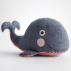 Pieced plush toy - whale from RedEnvelope.com