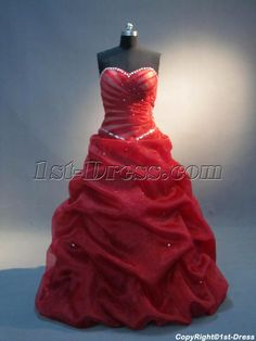 f42e4121b82 1st-dress.com Offers High Quality Delicate 15 Quinceanera Dresses Red  IMG 4006