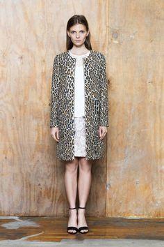 I love this leopard car coat!